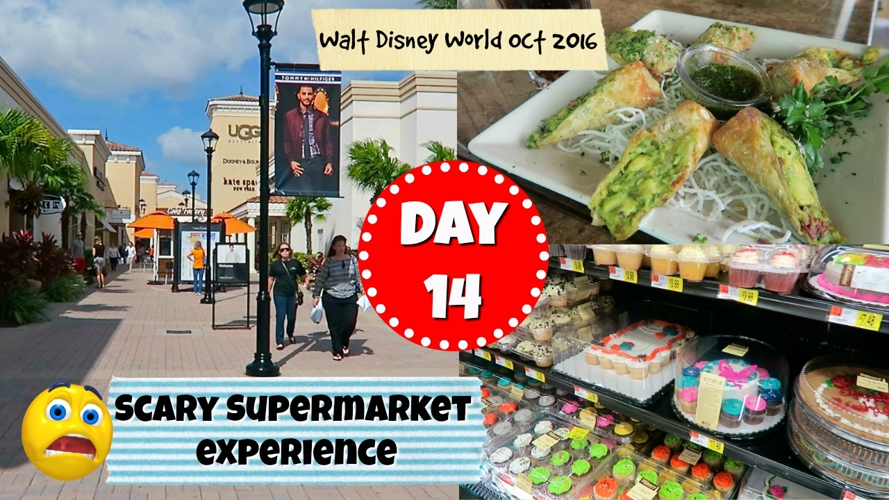 Disney World vlogs 2016 - Day 14 : Scary Supermarket experience