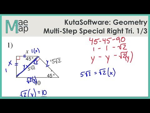 KutaSoftware: Geometry- Multi-Step Special Right Triangles ...