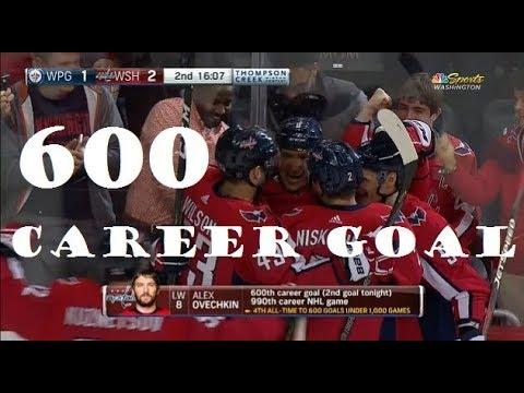 Alex Ovechkin scores 600th Career NHL Goal! Washington Capitals vs Winnipeg Jets Game 2018-03-12