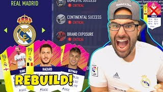 REAL MADRID REBUILD! HAZARD $100,000,000 Transfer!! - FIFA 18 Career Mode