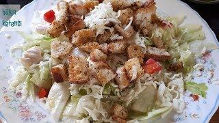 Çıtır Ekmekli Sezar Salatası Tarifi - Hülya Ketenci - Yemek Tarifleri