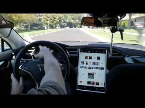 Tesla Autopilot v8.0 on the freeway - Extended version