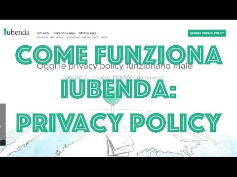 Generatore Privacy Policy: Come funziona IUBENDA?