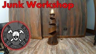 Steampunk Lighthouse Steel  Lamp - Lampada da terra in ferro industriale steampunk fai da te
