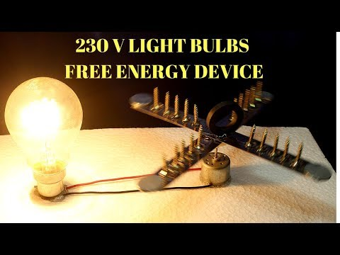 230v Free Energy Light Bulbs Using Magnet And Steel Rule - Infinity Free Energy 230v Light Bulbs