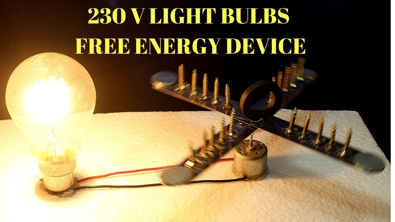 230v Free Energy Light Bulbs Using Magnet And Steel Rule