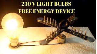 230v Free Energy Light Bulbs Using Magnet And Steel Rule - Infinity Free Energy 230v Light Bulbs