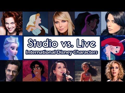 Studio vs. Live [International Disney Characters]
