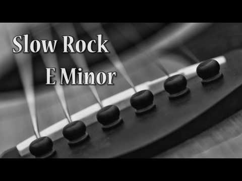 Slow Rock Guitar Backing Track in E Minor (93 bpm)