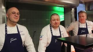 Fazer Culinary Team Finland esittelemässä voitokasta lounasta Haaga-Heliassa