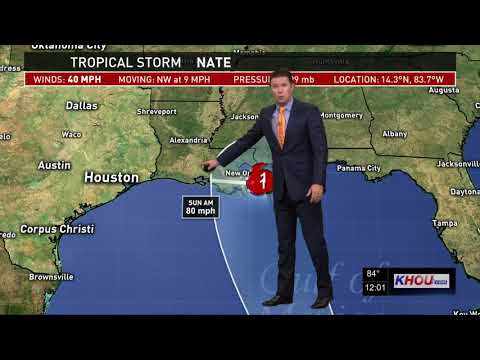 Tropical Storm Nate update 12 p.m. - Thursday, Oct. 5, 2017