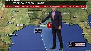 Tropical Storm Nate update 12 p.m. - Thursday, Oct. 5, 2017