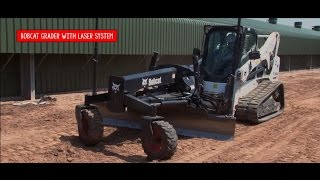 Video still for Tough Jobs Bobcat Grader with Laser equipment 2015