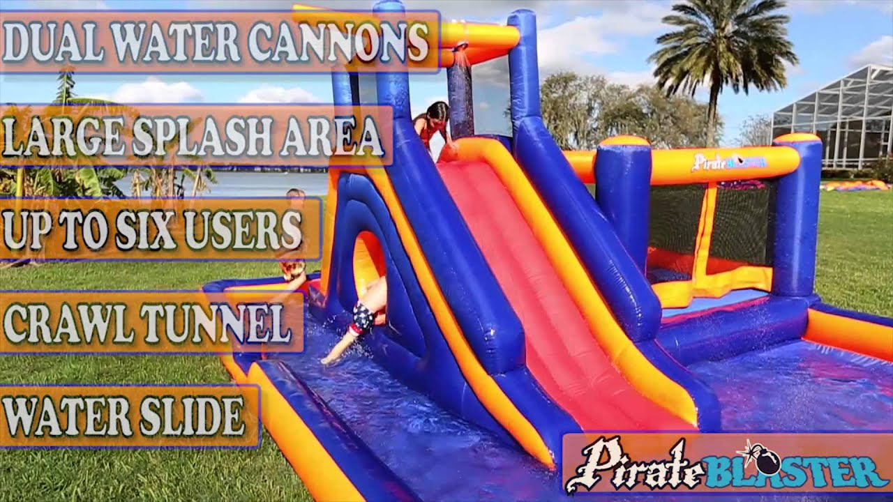 pirate blaster inflatable water park by blast zone youtube