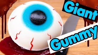 How to Make a Giant Gummy Eyeball filled w/ Edible Blood Slime from Cookies Cupcakes and Cardio