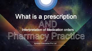 What is a Prescription and it's abbreviations Pharmacy Practice B.pharmacy 7th sem