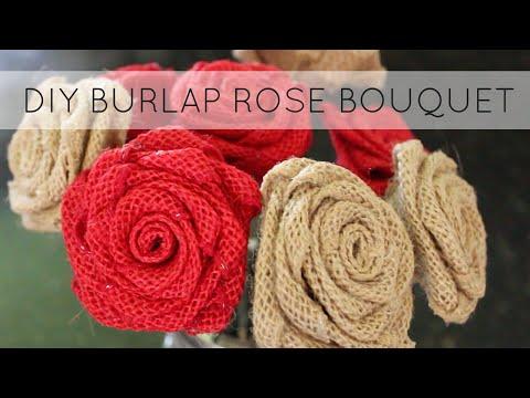 Diy Burlap Flowers How To Make