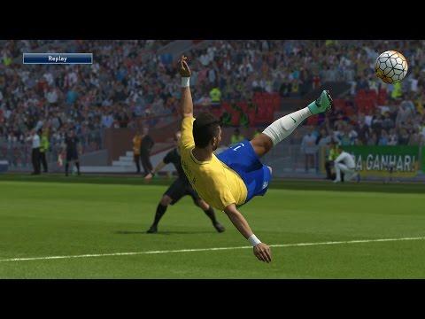 Brasil vs Croácia -  Old Trafford Stadium Gameplay Pedido por Inscritos - PES 2016 Modo ESTRELA