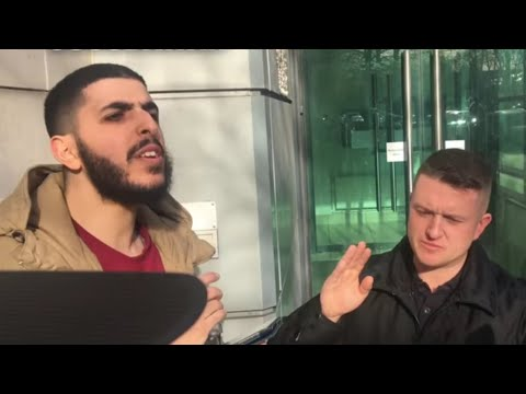 Ali Dawah Confronts Tommy Robinson 👀| Speakers Corner | Rebel Media Exclusive