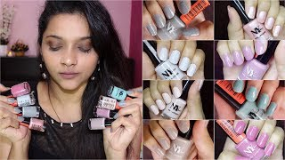 *NEW* NY BAE CREME NAIL LACQUERS REVIEW & SWATCHES  BEST VEGAN NAIL PAINTS UNDER Rs50  Pavithra iyer