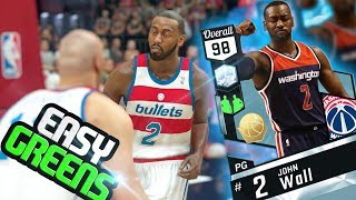 NBA 2k17 MyTeam  - Diamond Duo John Wall is a MONSTER! Goes Flawless! Easy Perfect Green Releases!!