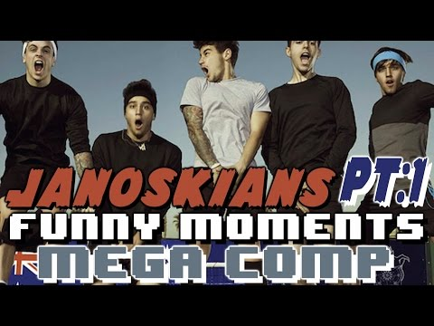The Janoskians Funny Moments Crack Humor Mega Comp Pt:1