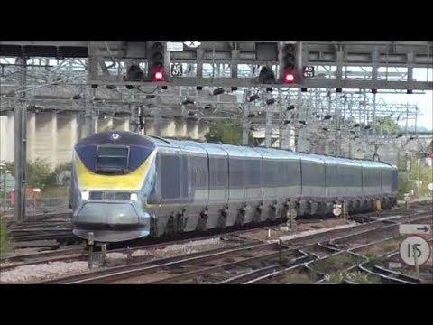 Eurostar 373229 & 373230 (9I49 Brussels to St Pancras) @ Ashford International - 30/7/18