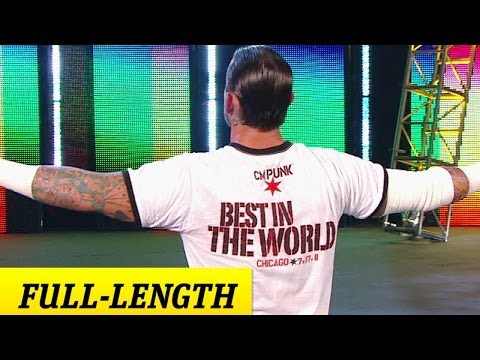 CM Punk's entrance at Money in the Bank 2011 in Chicago-still gives me goosebumps