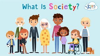 What is society? | Learning Video for Kids About American Society | Kids Academy