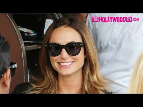 Stacy Keibler & Jared Pobre Lunch With Friends At Il Pastaio 6.12.15 - TheHollywoodFix.com