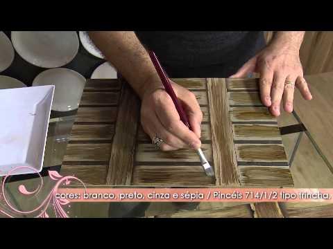 Aprenda a t cnica de pintura que imita madeira youtube for Como pintar puertas placas nuevas