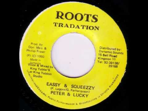 "Peter & Lucky - Eassy & Squeezzy - 7"" Roots Tradation 1982  - ANSWA RUB-A-DUB 80"