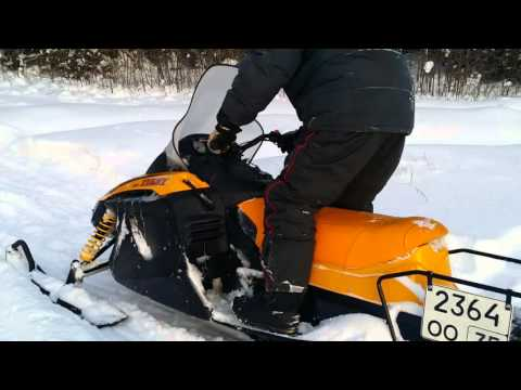 Снегоход Тикси 250 люкс. По полю. Пухляк.