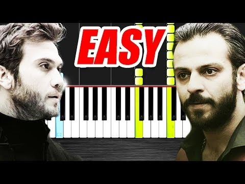 No.1 - Hiç Işık Yok - #Çukur - EASY -  Piano Tutorial by VN