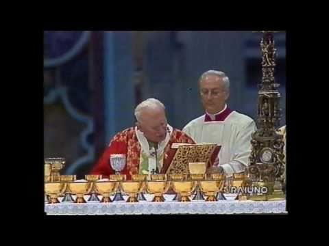Giovanni Paolo II - 10 Novembre 1996 - Canto del Praefatio e Sanctus by CzarneszciMMX