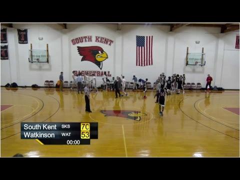 Varsity Basketball vs. Watkinson School (HVAL GAME)