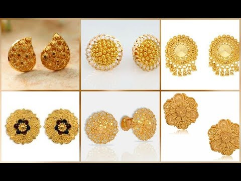 Pure Gold Stud Earring Designs Collection || Latest Gold Tops Earring Ideas || S.C