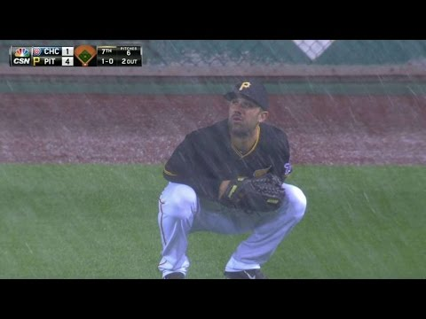 CHC@PIT: PNC Park gets hit with bad weather in 7th