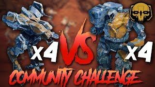 BattleTech: 4 Locusts vs. 4 Hunchbacks Challenge thumbnail