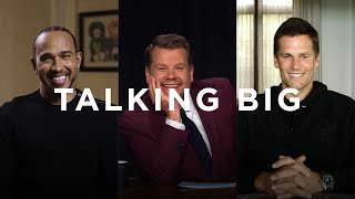 TALKING BIG - GOATs Tom Brady and Lewis Hamilton talk big with James Corden
