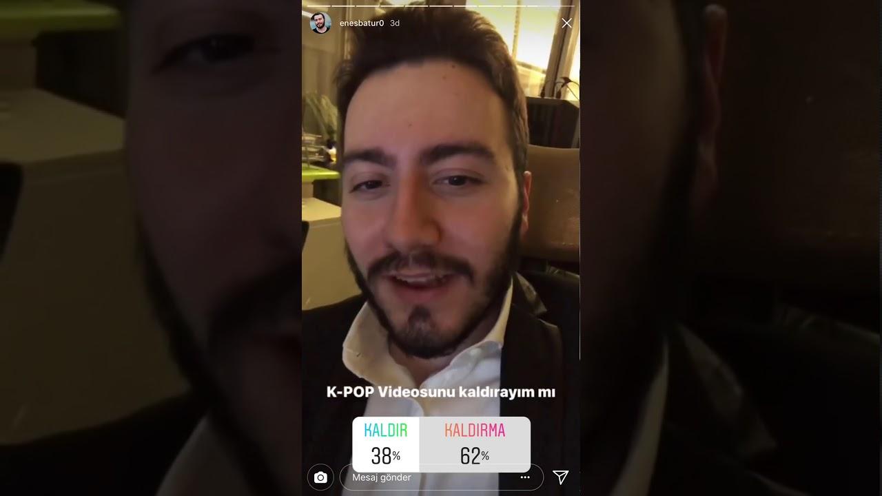 Enes Batur Kaldirilan K Pop Videosunu Konusuyor Youtube