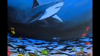 How to paint a SHARK underwater coral reef with Acrylic Paint, PREVIEW to full lessons