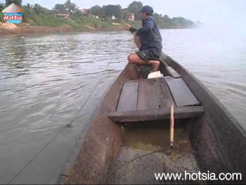 หาปลาแม่น้ำโขงจำปาสัก