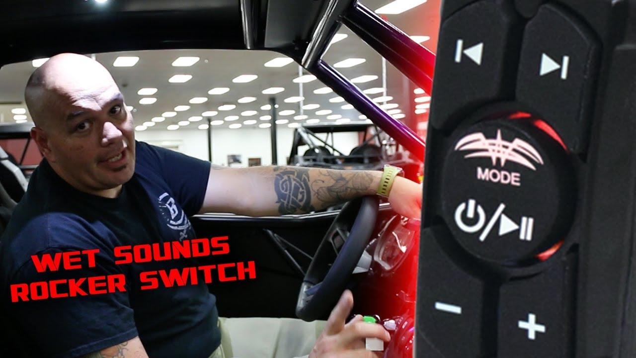 wet sounds rocker switch review bluetooth utv sound system switch [ 1280 x 720 Pixel ]