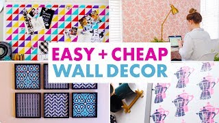 Diy Cheap Wall Decor - Add Color To Your Walls Without Paint