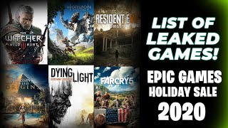 EPIC GAMES STORE HOLIDAY SALE 2020 - LIST OF GAMES LEAKED?!