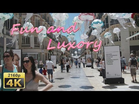 From the Beach to the Center of Malaga - Spain 4K Travel Channel