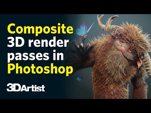 Compositing 3D render passes in Photoshop