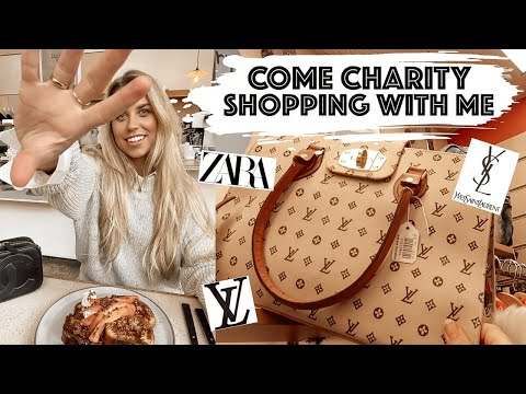 COME CHARITY SHOPPING WITH ME | DESIGNER LUXURY ON A BUDGET THRIFTING HAUL | Freya Farrington