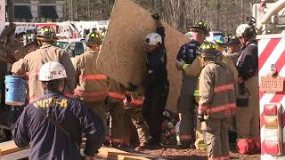 Trench collapse: Rescue underway after trench collapses at Brier Creek in Raleigh, trapping workers